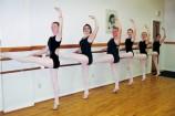 In ballet class